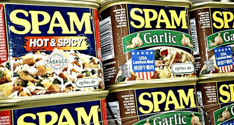 Cans of Spam