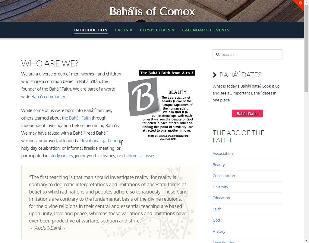Bahá'ís of Comox
